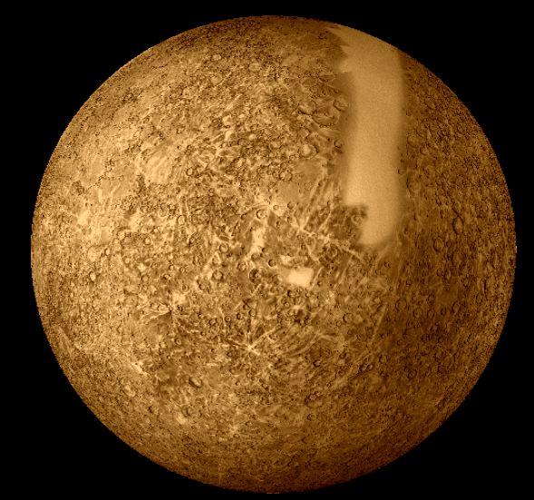 Mercury imaged by Mariner 10
