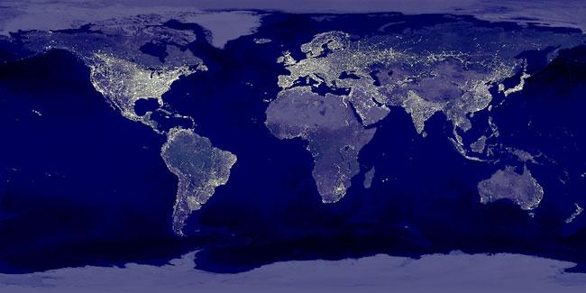 Earth at night - NASA composite image