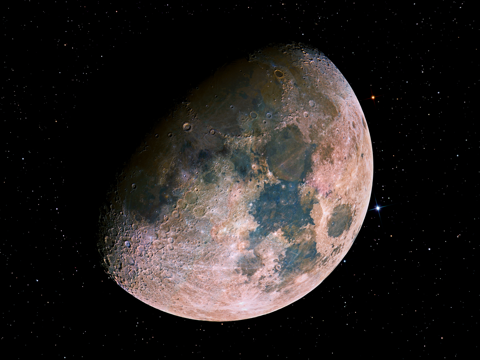 hight resolution of hdr image of the moon