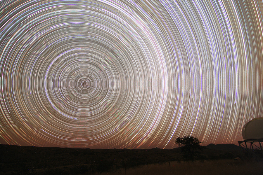 Star Trails by:NASA