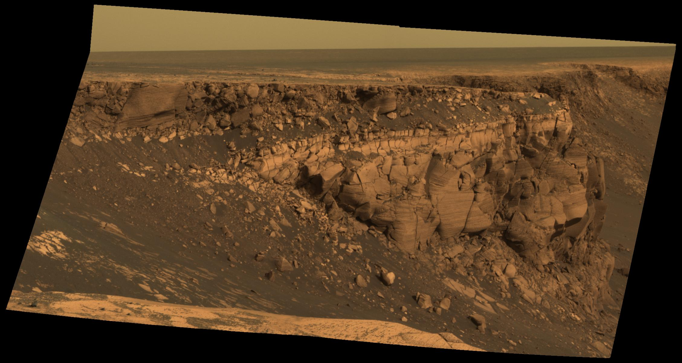 APOD 2007 July 3 At the Edge of Victoria Crater