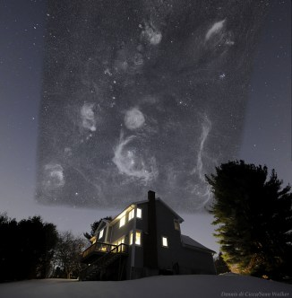 The Big Picture -- the sky as seen in a long exposure with sensitive equipment.  By Dennis diCicco and Sean Walker, courtesy Astronomy Picture of the Day.