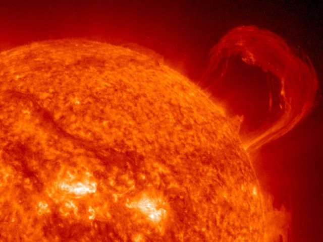 A Solar Prominence from SOHO