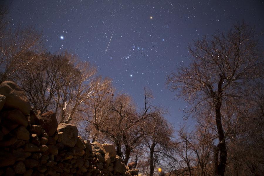 Une Gémenide dans le ciel Iranien (A Geminid Meteor Over Iran )