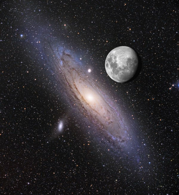 Andromeda Galaxy Moon