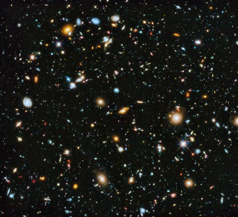 Hubble Deep Field image (Bron: NASA)