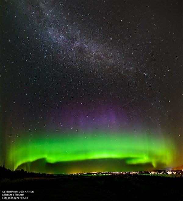 Aurora Borealis Milky Way