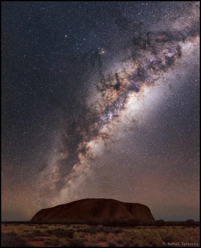 Tejút Ausztráliából. Fotó Babak Tafreshi