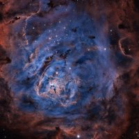 The Lagoon Nebula in Hydrogen Sulfur and Oxygen