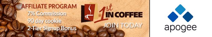1st in Coffee Affiliate Program - Managed by Apogee