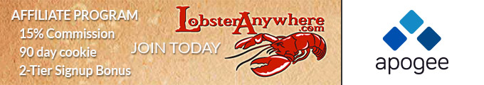 Lobster Anywhere Affiliate Program - Managed by Apogee