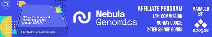 Nebula Genomics Affiliate Program - Managed by Apogee