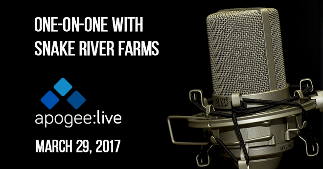 One on One with Snake River Farms - Apogee Live
