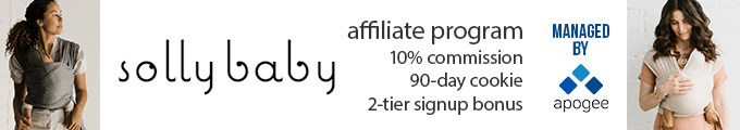 Solly Baby Affiliate Program - Managed by Apogee