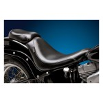 LePera, Silhouette solo seat. Smooth. Gel | 06-17 Softail (excl. FXSTD Deuce) with 200mm tire, fender mounted (NU)