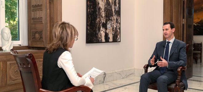 """President Assad's interview met """"The Sunday Mail"""": De VK heeft de Witte Helmen publiekelijk gesteund terwijl zij een onderdeel van Al Qaida zijn! – FREESURIYAH"""