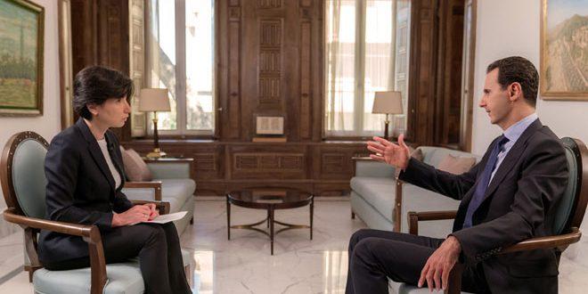 President al-Assad in gesprek met het Russische NTV Channel: elke constitutionele hervorming in Syrië is een volledig Syrische kwestie – FREESURIYAH