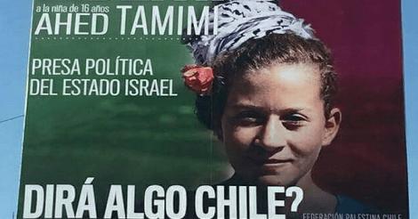Chili eist als eerste staat ter wereld de vrijlating van Ahed Tamimi