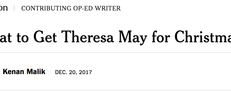 """NYT: """"What to Get Theresa May for Christmas?"""" Answer: Adults in the Room!"""