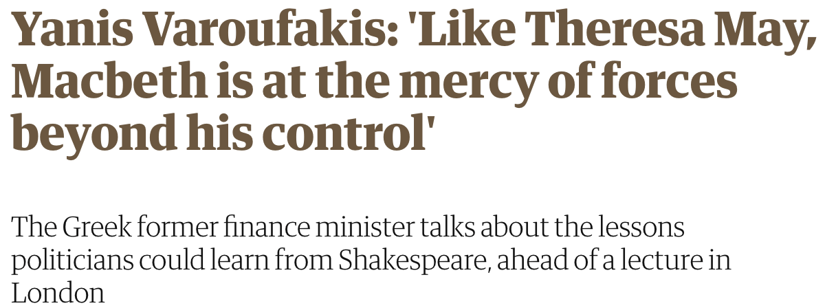 The Guardian previews my Annual Shakespeare Lecture, tonight (19 March 2018) at the Rose Theatre