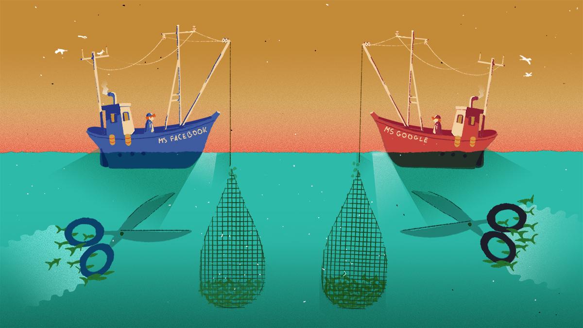 Den Datenfischern die Netze kappen: Ideen gegen die Marktmacht der Plattformen