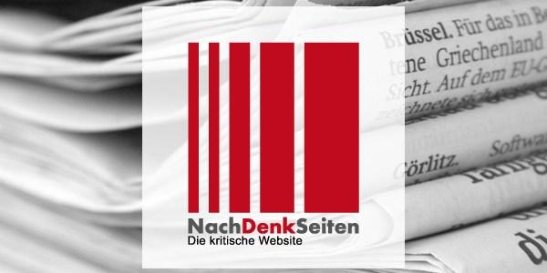 """""""Wir entschuldigen uns! Wir haben's kapiert! Wir sind lernfähig!"""" – Armes deutsches Volk. – www.NachDenkSeiten.de"""