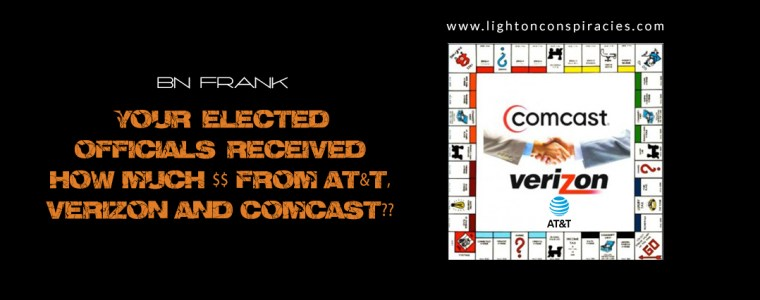 Your Elected Officials Received How Much $$$???   Light On Conspiracies – Revealing the Agenda