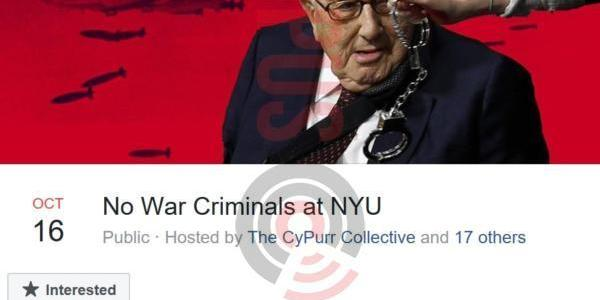 """Henry Kissinger Heckled At NYU, Told To """"Rot In Hell"""""""