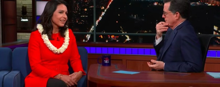 colbert-smears-tulsi-gabbard-to-her-face-while-telling-zero-jokes