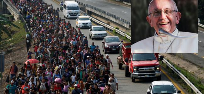 pope-joins-soros-in-funding-immigrant-caravan-invasion-of-us-southern-border