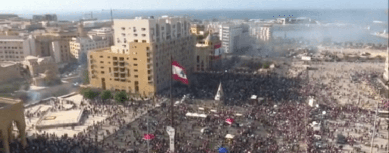 police-deploy-tear-gas-as-protesters-in-lebanon-try-to-break-into-parliament-building-following-massive-beirut-explosion