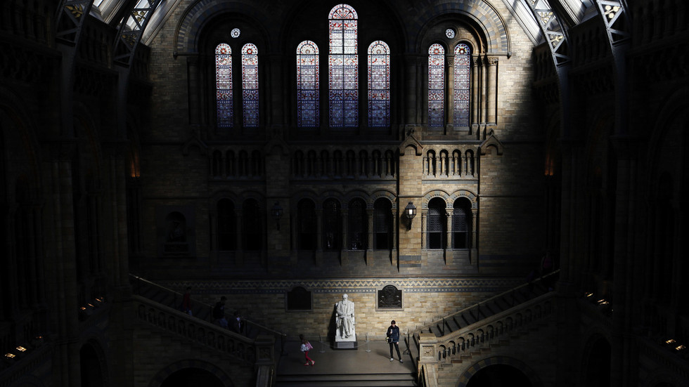 'you-thought-it-would-stop-at-statues?'-darwin-exhibits-at-uk's-natural-history-museum-may-be-canceled-for-being-'offensive'