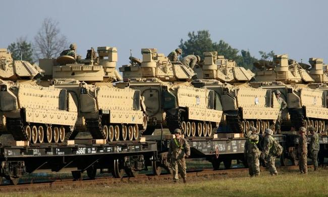 us-troops-&-abrams-tanks-arrive-in-lithuania-for-military-drills-along-border-with-belarus