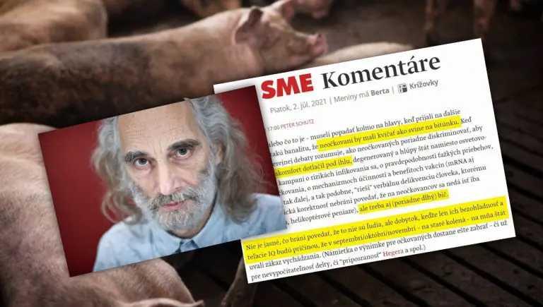 """slowaakse-soros-krant:-""""ongevaccineerden-moeten-gillen-als-varkens-in-het-slachthuis""""-–-frontnieuws"""