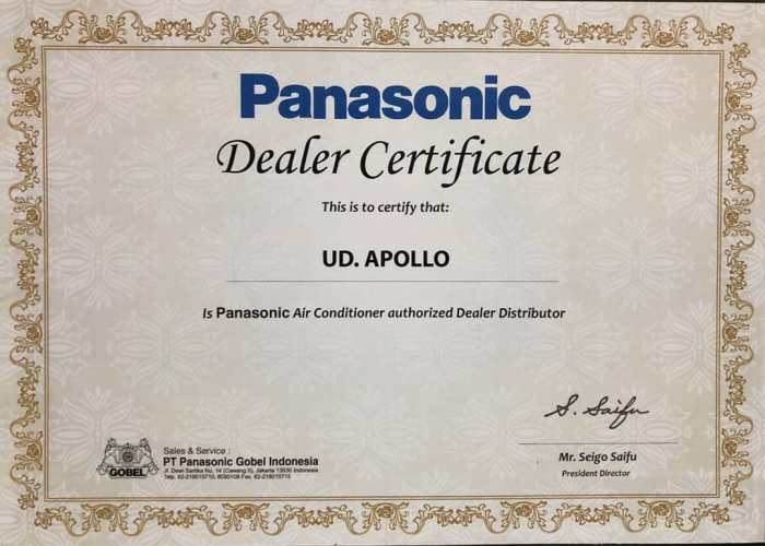 Apollo AC is Panasonic Air Conditioner authorized Dealer Distributor