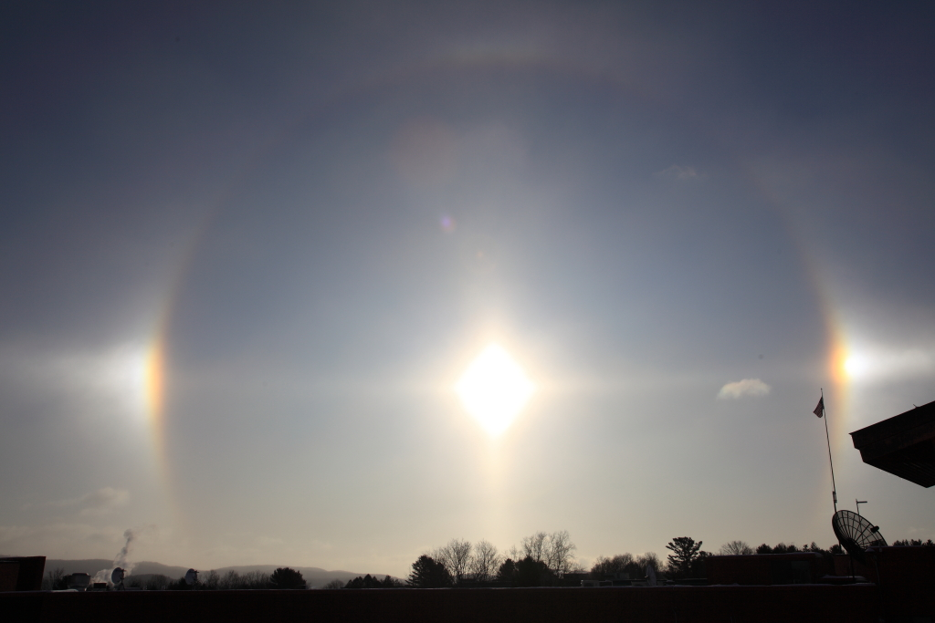 Sun Dogs  Atmospheric example of refraction