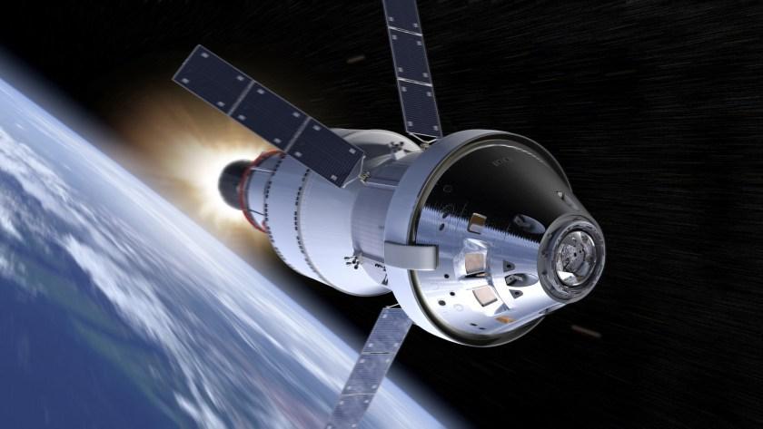 An artist's concept of an Orion spacecraft.