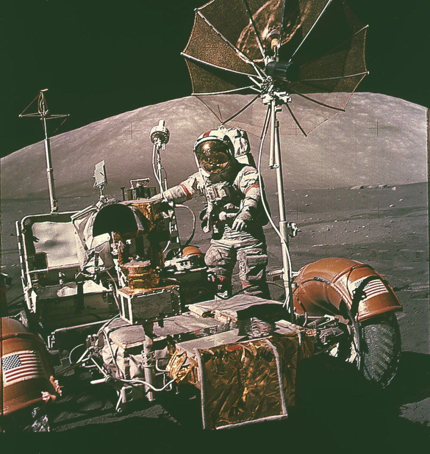A Lunar Roving Vehicle (LRV) used on Apollo 17.