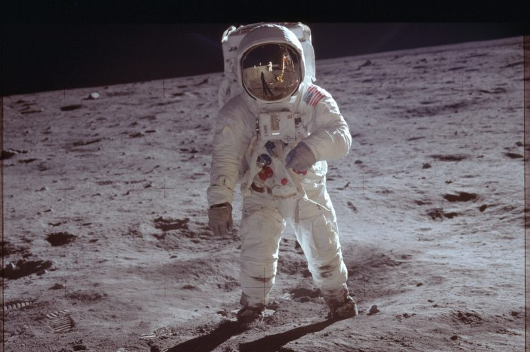 Buzz Aldrin photographed by Neil Armstrong.