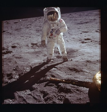 Buzz Aldrin photographed by Neil Armstrong. Credit: NASA