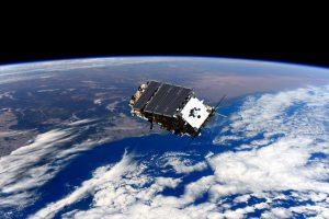 A satellite in space