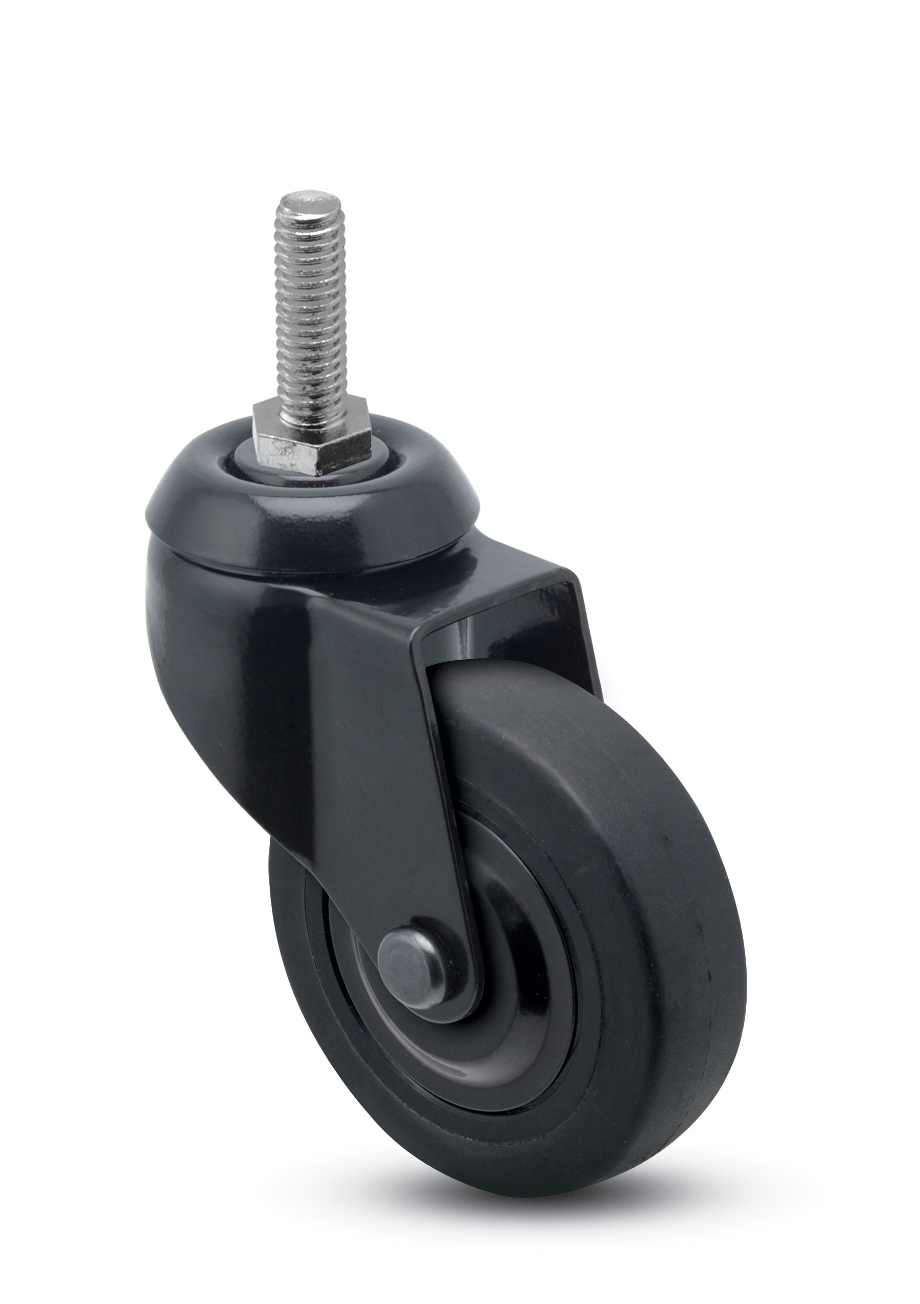 chair casters threaded stem green bungee caster swivel 3 x 15 16 thermoplastized rubber black 5 18tpi 1 plain bore 110 thrd grds 67965 8 24 apollo