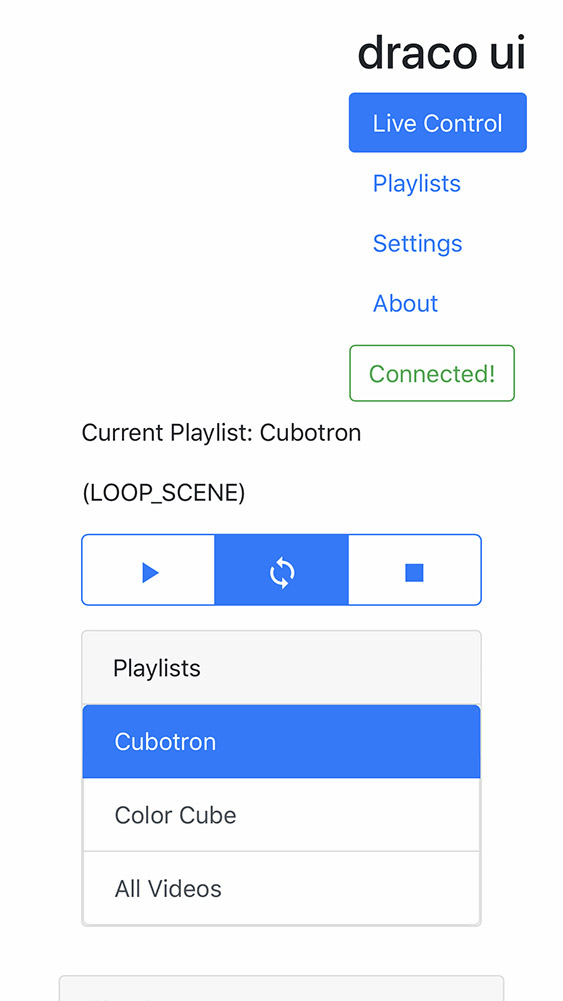 Playlist selection