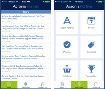 Partner App via Acronis