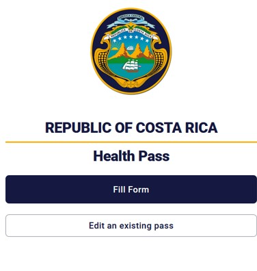 Costa Rica Health Pass Link
