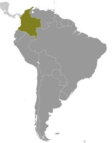 Colombia Locator Map