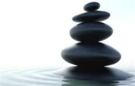 Rocks Stacked On Water
