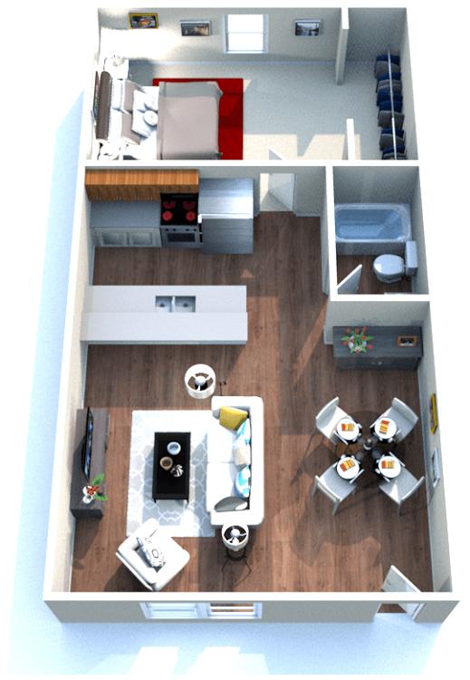 1 Bedroom Apartments for Rent in Baton Rouge, LA