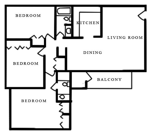 3 Beds 2 Baths Apartment for Rent in Williamsburg, VA