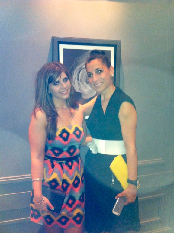 Lora Spiga (Lancome Canada's official makeup artist- she was so nice!) and I.